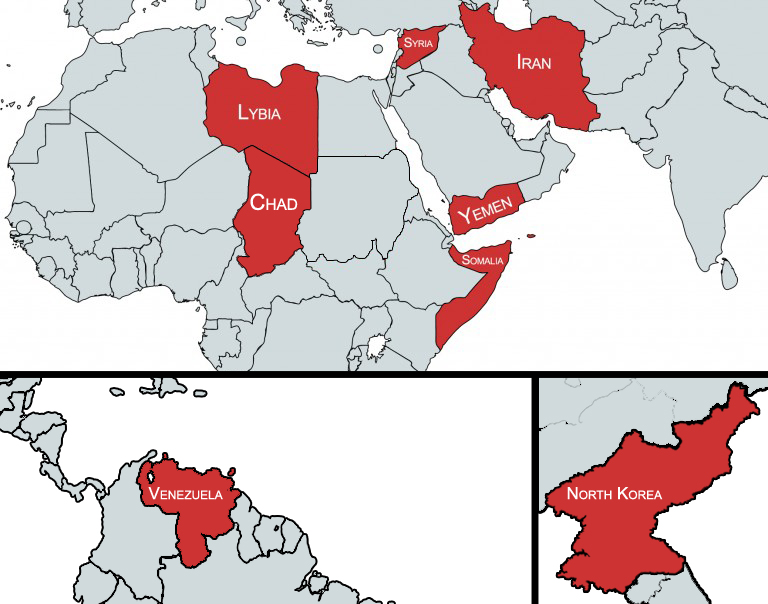 Q Which Countries Are Impacted By The Travel Ban